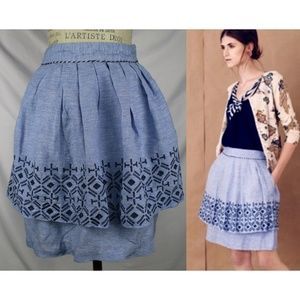 Anthropologie Odille Alpine Dreams Skirt 4